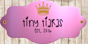 Tiny Tiaras Logo NEW 09 17 2017 Wood Background