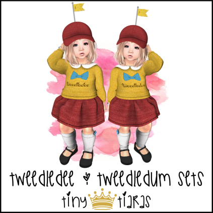 Tiny Tiaras Tweedledee & Tweedledum Sets AD