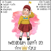 Tiny Tiaras Tweedledum Outfit Set AD
