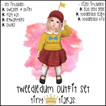 Tiny Tiaras Tweedledum Outfit Set AD