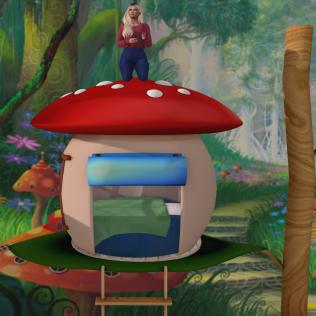 Raven's Kids Mushroom Bed 3